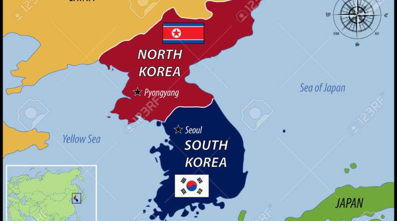 mappa corea del nord