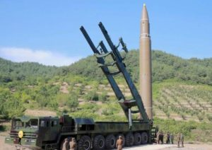 corea del nord missile icbm hwasong-14 missili