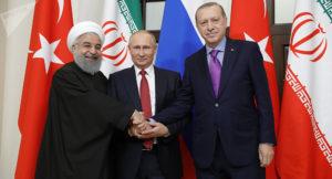Russia Turchia Iran Rohani Putin Erdogan Siria