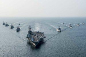 USA uss reagan corea del nord us navy