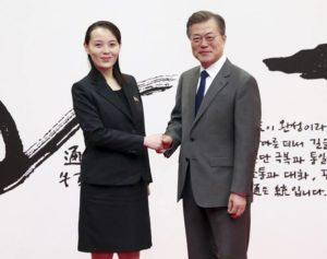 Kim Yo-Jong Corea del Nord Moon Jae-in Corea del Sud