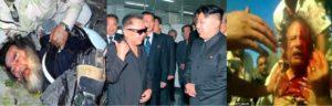 Kim Jong-Un Corea del Nord, Saddam Hhussein Iraq e Gheddafi Libia