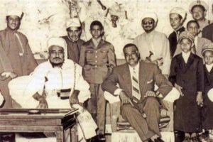 Imam Yahya dello Yemen con il presidente dell'Egitto panarabo Nasser