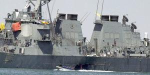 La nave americana USS Cole oggetto dell'attacco qaidista ad Aden