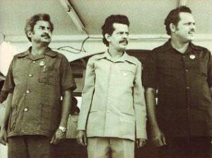 I leader del FLN dello Yemen Rubai Ali, Ismail e Ali Naser