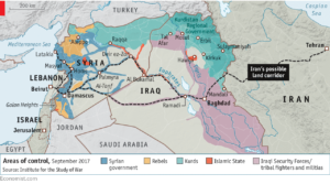 Corridoio sciita tra Iran Iraq Siria e Libano