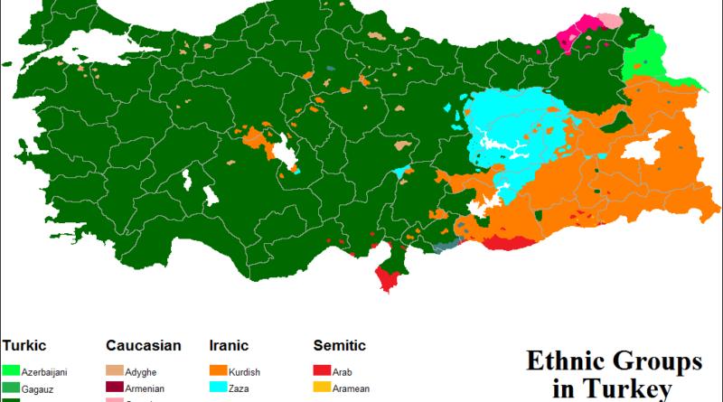 Mappa Turchia territori curdi