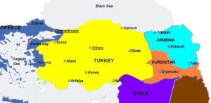 Impero Ottomano Turchia curdi Kurdistan Armenia