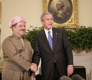 Barzani PDK curdi Kurdistan Iraq Bush USA