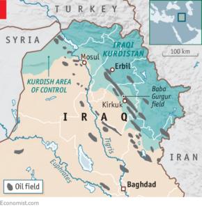 Mappa petrolio Kirkuk Iraq Kurdistan curdi