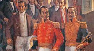 Simon Bolivar e Francisco De Santander indipendenza gran colombia