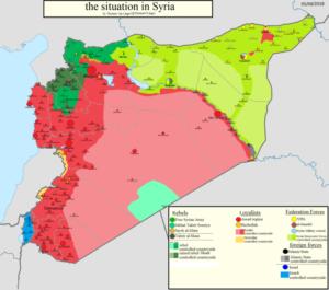 Mappa situazione crisi siriana