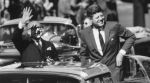 Presidente Venezuela Romulo Betancourt e Presidente Stati Uuniti USA Kennedy alleanza per il progresso