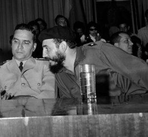 Presidente Venezuela Wolfgang Larrazábal e Fidel Castro Cuba