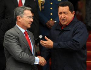 Presidente Colombia Uribe Venezuela Chavez