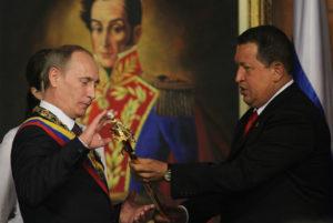 Presidente Russia Putin Venezuela Chavez spada libertatores bolivar