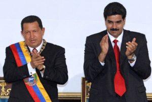 Presidente Venezuela Chavez e Nicolas Maduro