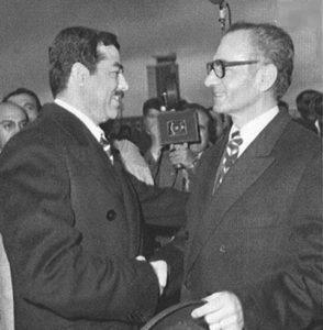 Saddam Hussein Iraq Shah Iran Mohammad Reza Pahlavi OPEC accordo Shatt al-Arab