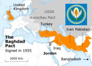 Patto di Baghdad Iraq Turchia Iran Pakistan