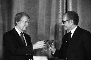 USA Carter Shah Mohamed reza pahlavi iran champagne casa bianca