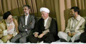 Khatami Mousavi Rafsanjani e Ahmadinejad Iran Presidente