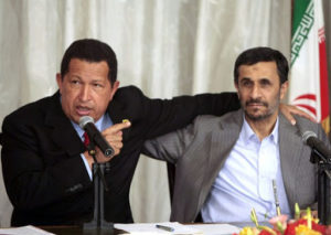Presidente Venezuela Chavez e Ahmadinejad Iran