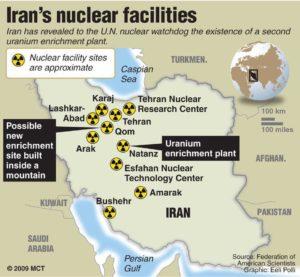 Mappa siti centrali nucleari arricchimento uranio
