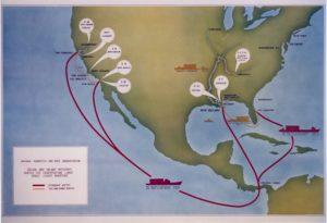 Mappa USA canale di Panama Colombia