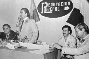 Alberto Santofimio Pablo Escobar politica liberale Colombia