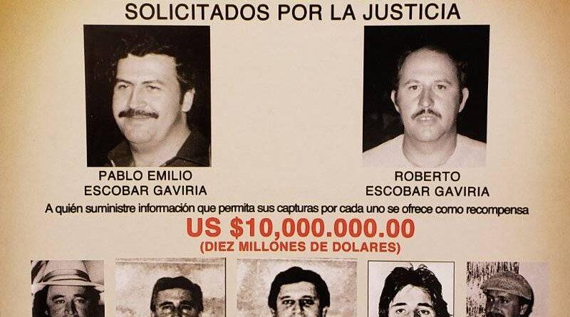 Cartello Medellin soci boss Escobar Gaviria Rodriguez Ochoa narcos ricercati