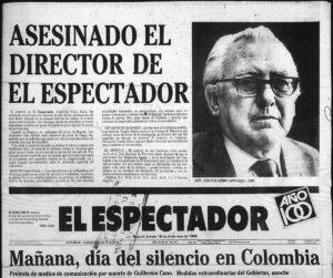 Gullermo Cano el espectador narcos Colombia Cartello Medellin Escobar
