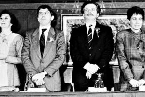 Presidente Colombia Cesar Gaviria Luis Carlos Galan