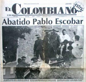 Pablo Escobar abbattuto epilogo